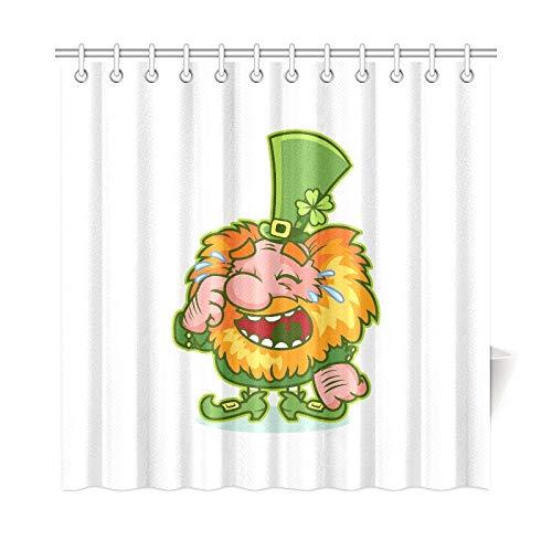 QuqUshop Wohnkultur Bad Vorhang Lachen Redhaired GNOME Grün Kostüm Lustige Polyester Wasserdicht Duschvorhang Für Badezimmer, 72X72 Zoll Duschvorhänge Haken Enthalten