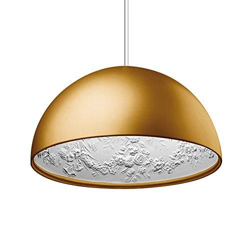 LilaminsThebox Loft Nordic American Kronleuchter retro kreative Persönlichkeit mit Kronleuchter Restaurant der Sky Garden Kronleuchter Lampen, 40 cm, goldene Studio Single Head