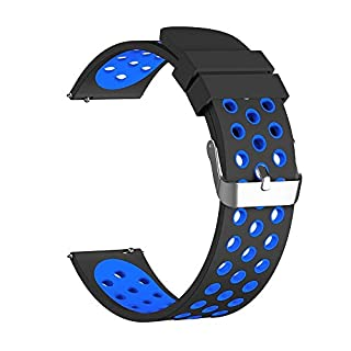 AmaSells Huawei Uhr GT Intelligent Uhr Smart Watch Sport Weichen Silikon Ersatz Armband Klassisches Handschlaufe Bandgurt für Herren Damen (Blau)
