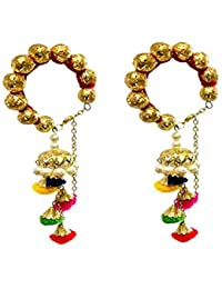 Loops N Knots Red Bangle With Multi Colour Charm Hangings/Lumba Rakhi/Wrist Band/Armlet/Bracelet For Girls/Bhabhi...