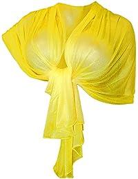 comprare on line 5e5a3 1d335 Amazon.it: coprispalle donna elegante - Giallo / Sciarpe e ...
