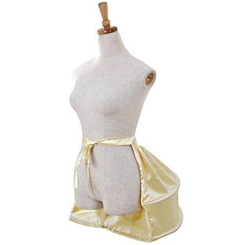 Cosplayitem Damen Kostuem Petticoat für Rokoko-Kleid Underskirt Blume Mittelalterliche viktorianischen Kleid Hellgelb 02