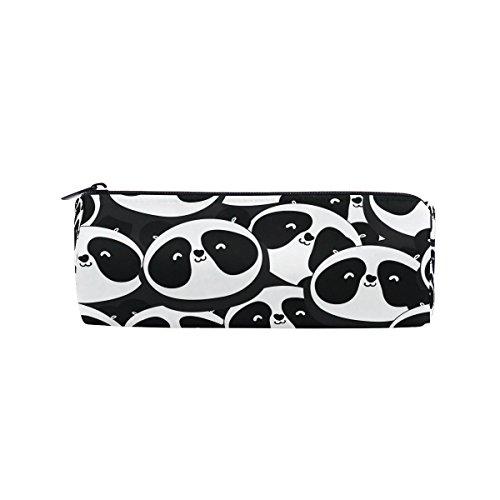 miloha Handdrawn Panda Bleistift Stift Tasche für die Tasche, Cartoon Tier Student Büro College Mitte Schule High School Großer Halter Box Organizer
