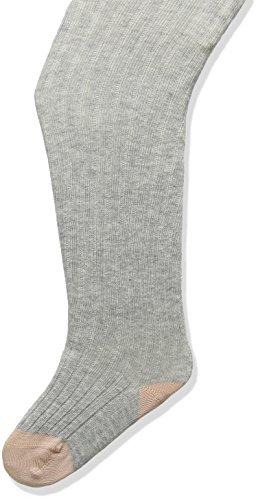 NOA NOA MINIATURE Baby-Mädchen Strumpfhose Basic Rib Hosiery, Grau (Light Grey Melange 597), 19-22 (Herstellergröße: 6-9M) (Rib Strumpfhose)