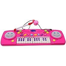 Happy Cherry Mini Juguete Infantil de Música Piano con Micrófono Desmontable Teclado Eléctrico Electone Regalo para Bebés Niños Niñas