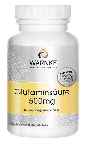 Ácido glutámico – 500mg – sustancia pura sin aditivos – 250 cápsulas -145g