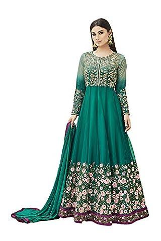 PCC Indian Women Designer Party wear green Anarkali Salwar Kameez K-5474-49830