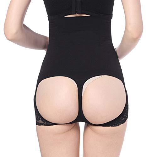 Schiere Spitze Oberschenkel Höhen (FENTINAYA Taille Butt Lifter Trainer Oberschenkel Kontrolle Korsett Höschen Shapewear Unterwäsche High Women Body Shaper)