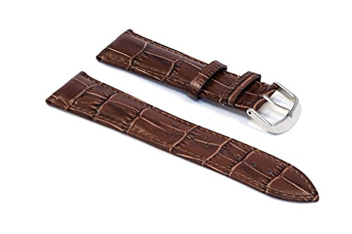 watchassassin-dark-tan-vibrant-alligator-grain-watch-strap-22mm