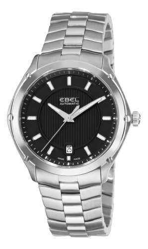 Ebel Men's 9020Q41/153450 Classic Sport Black Dial Stainless-Steel Bracelet Watch