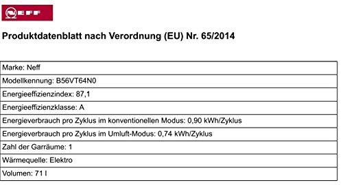 Neff BVT 5664 N Backofen Elektro / 71 L / mit 14 Beheizungsarten / edelstahl - 3
