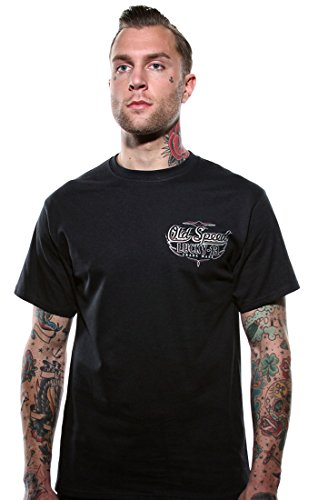 Lucky 13 T-Shirt Old Custom Black Schwarz