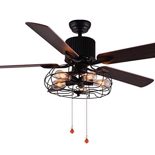 Ceiling Lights & Fans Ceiling Fans Generous Loft Fan Chandelier Retro Dining Room Household Electric Fan Mute Led Remote Leaf Fan Lamp
