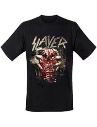 Slayer Men Skull Clench Short Sleeve T-Shirt