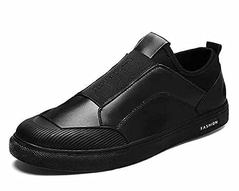 Hommes Décontractée Chaussures Plates 2017 L'automne Poids Léger Respirant De Plein Air Voyage Chaussures ( Color : Black , Size : 40 )