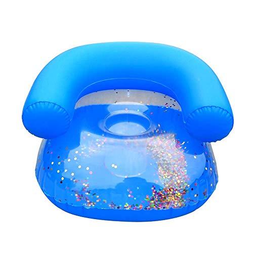 eamqrkt Kinder Aufblasbar Sofa Baby Sitzen Sessel Pailette Kinder Bade Lernen Seat - Blau
