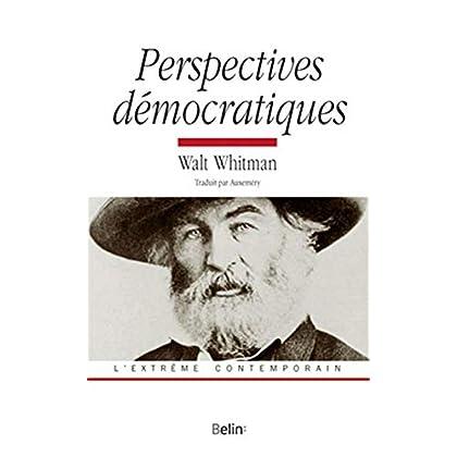 Perspectives démocratiques de Walt Whitmann