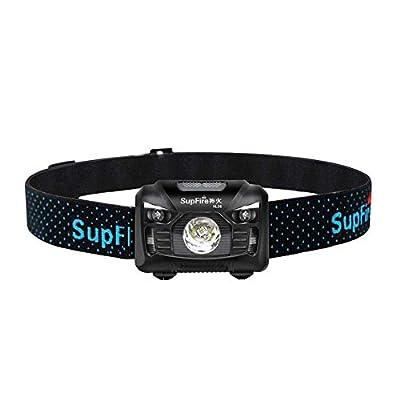 SLCSL Scheinwerfer LED Scheinwerfer 500 Lumen Cree LED Scheinwerfer mit Rotlicht und Temperaturinduktionsschalter, Wiederaufladbar mit USB Kabel direkt, 5 Modi für Camping Radfahren Etc, Modell HL06 von SLCSL auf Outdoor Shop