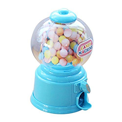 Homyl Mini Kaugummiautomat Süßigkeiten Bonbons Maschine Spielzeug - Blau