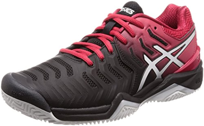 Asics – Gel de Resolution 7 Clay Tenis Zapatos, E702Y, Rot/scharz (709), 42EU  -