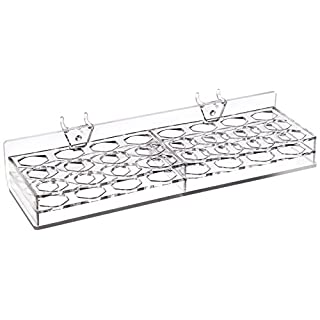 Azar Displays 225536-2pack 24-Compartment Tray for Pegboard/Slatwall (Pack of 2)