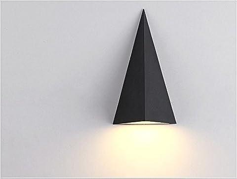 GZEDG Mur / extérieur paroi imperméable à l'eau / Aisle lampe de jardin mur / Creative lampe LED / delta éclairage extérieur / abat-jour en aluminium / source de lumière comprenant -H24 * W14 (cm) ( Color : Lumière chaude )