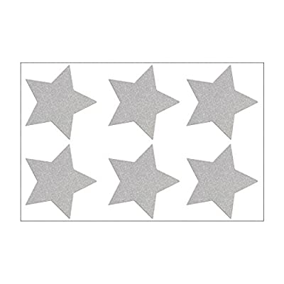 Reflektor Sterne Aufbügler Set für Kinderkleidung (6 Sterne je 4,5 cm)