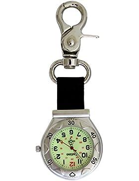 Entino Marke silberner Klipp auf Karabiner-leuchtendes Gesicht FOB Uhr für Doktor Nurses Sanitäter Chefs Extrabatterie
