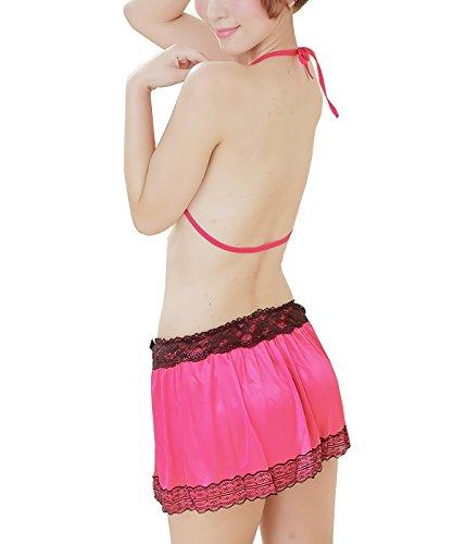Dissa® Hot Bikini Nuisettes Ensemble, Lingerie Sexy, rouge Rouge