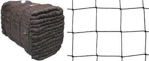 Volierennetz Freilauf Hühnerauslauf schwarz Masche 10 cm 5 m x 15 m Stärke: 1,2 mm