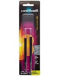 Refill for uni-ball Gel IMPACT RT Roller Ball Pens, Bold, Black, 2/Pack