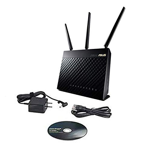 Dailyinshop asus rt-ac68u 2,4 ghz e 5 ghz dual band gigabit router senza fili wifi 1900m,nero