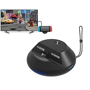 Travel TV Dock, HDMI Adapter für Nintendo Switch – PeakLead NS Docking Station, Ladestation Ständer, USB Type C Ladegerät Standfuß Charger mit 3 USB Port, HDMI 1080P