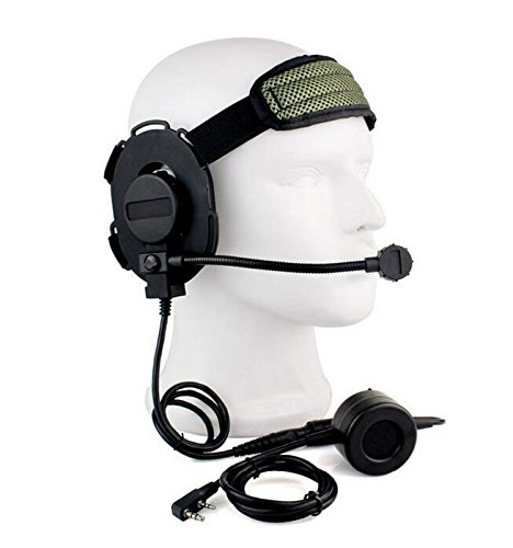 worldsho-pping4u-z-tactical-bowman-elite-ii-auricular-impermeable-ptt-para-kenwood-2pin-radio-negro-