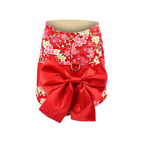 Fenverk 1Pc Weich Japanisch Kimono Hund Stoff Alle GrößEn Haustier HüNdchen Katze Kleidung Weste Geschirr Jumper Sweatshirt Mantel Zum Klein Rasse Hunde S/M / L (Mehrfarben-D,M)