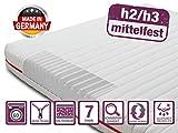BMM Klassik 15 H2 / H3 Matelas de fermeté moyenne, Housse premium, 90 x 200 cm