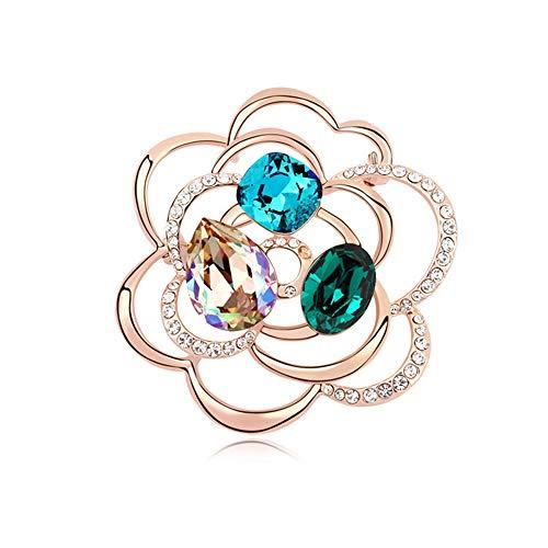 Comfot Lunar New Year Vintage-Element Crystal Necklace Hochzeits-Dress Dekorationsgeschenk für Mädchen,002