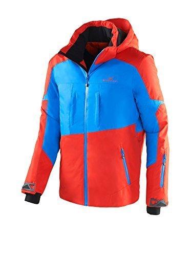 Black Crevice Herren Ski- und Snowboardjacke, BCR251004, mehrfarbig (rot/blau), Gr. 54
