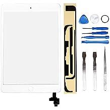 LL TRADER Pour iPad mini 1 & 2 Blanc Écran tactile Numériseur Panneau Avant Verre Réparation de lentille (inclure puce IC) avec Outils et Adhésif
