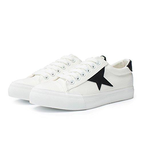 Ladies Flat Slip Tacco Canvas Shoes,Lacci Scarpe A