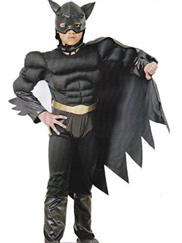 Costume Carnevale Bambino Supereroe, Uomo Pipistrello Nero 17496 taglia small