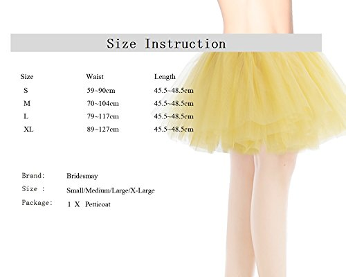 Bridesmay Damenrock Tutu Unterrock Petticoat Rockabilly kurz Tanzkleid Orange