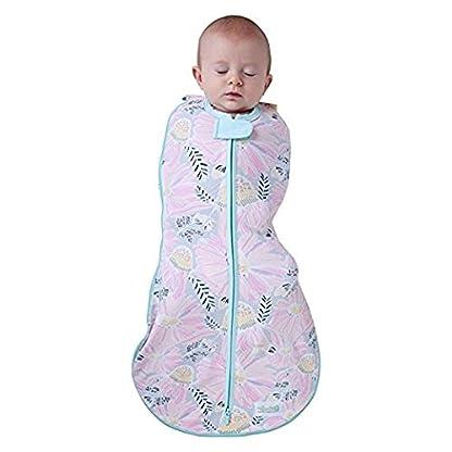 417VijzDirL. SS416  - Woombie Grow With Me Swaddle - Saco de dormir para recién nacido de 5 etapas a 18 meses de 0 a 18 meses, diseño de flores silvestres