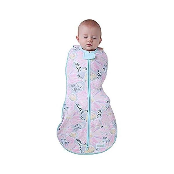 Woombie Grow With Me Swaddle – Saco de dormir para recién nacido de 5 etapas a 18 meses de 0 a 18 meses, diseño de…