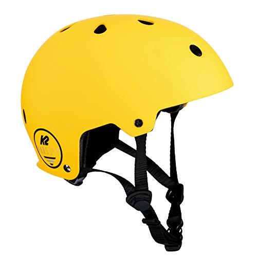 K2 Damen Herren Inline Skates Helm VARSITY - Gelb-Schwarz - M (55-58cm) - 30D4101.1.1.M