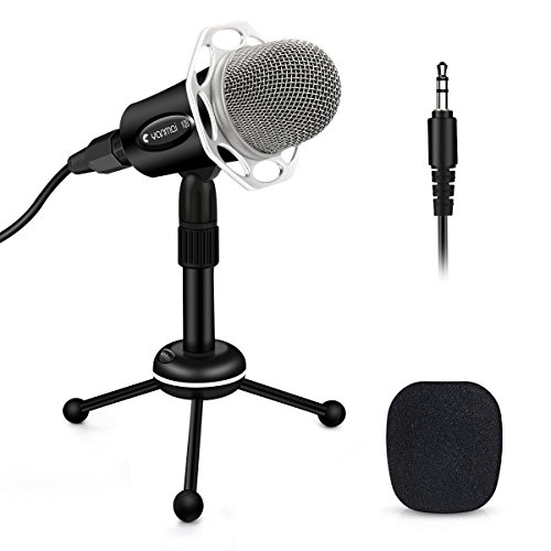 ELEGIANT Micrófono Profesional PC de Condesnsador para VJ DJ Studio Grabación Jack 3.5 mm Interfaces XLR Reducción Ruido Skype Message FaceTime Youtube Gaming Compatible con Windows Mac IOS Android