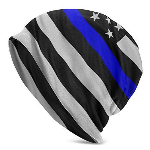 Nicegift Blau lebt Angelegenheit isoliert Flagge Strickmütze Wintermütze warme, Dehnbare weiche Beanie Hüte für Männer und Frauen Women ganzjähriger Komfort -