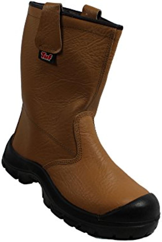TuF - Calzado de protección de Piel para hombre Marrón marrón