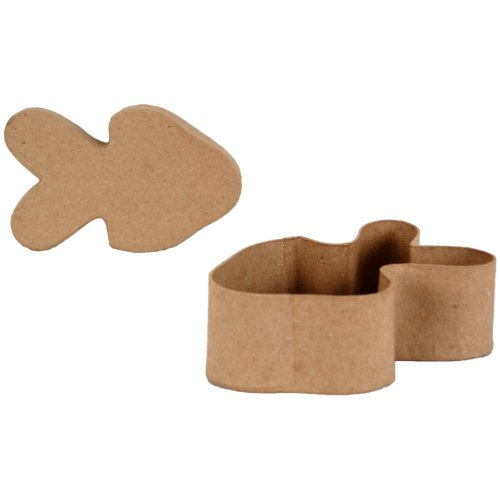 Country Love Crafts Aufbewahrungskästchen in Fisch-Form, Pappmaché (Pappmaché-formen)