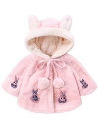 Zarupeng Infant Baby Mädchen Jungen Langarm-Kaninchen Kapuzenmantel Tops Dicken Warm Outwear Schlafsack Outfits